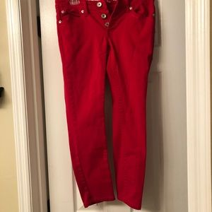 Red, Skinny Jeans- Size 9